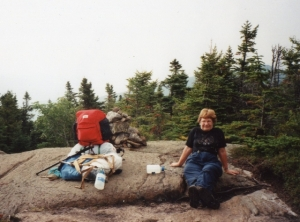 Resting on he rocks and eating blueberries, my favorite part of the hike