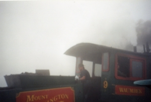The cog railway engine looks like the Little Engine that Could