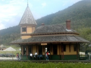 The Railroad Depot at Crawford Notch