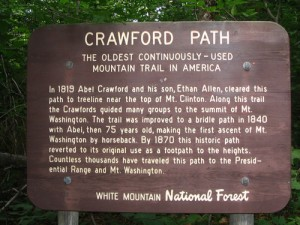 The oldest ,mountain hiking trail in America
