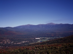 Mt. Washington Hotel, a speck in the valley from our high vantage point in the Presidential range