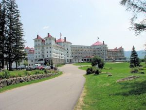 Entrance to the Mt. Washington Hotel in Bretton Woods