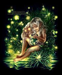 Art inspired by fireflies. By Adele Lorienne, Meadow Haven