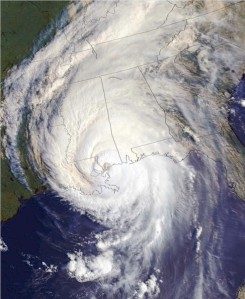 Note the eye and immensity of Katrina