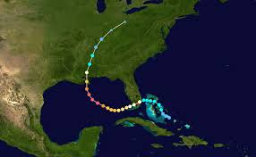Katrina's path. The bayous of LA do not show on this map