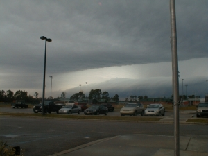 A pretty violent storm interrupts our planting schedule