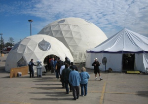 Geodesic domes of the Made With Love Cafe, Economic Recovery