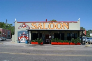 Fire Dog Saloon, a local eatery in happier days