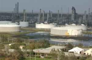 Flooded refinery in St. Bernard Parish