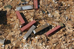 Shipping containers strewn like dominos in Gulfport