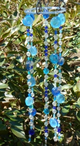 Hanging in the garden, beads glued back to back,, survived squirrel antics
