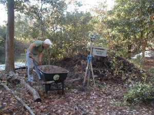 We've hunted up organic matter from wherever we could find it -- including from under uprooted trees