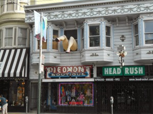 Top sight on Haight? Just above the unparalleled Piedmont costumery. Photo by Susan