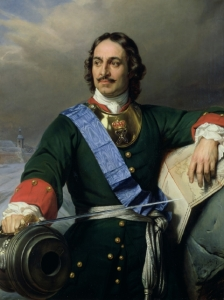 Peter the Great, 1838, by Paul Delaroche. Note map and cannon, symbols of his reign