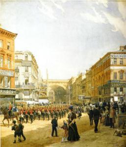 Bolshaya Morskaya, oil painting by Alexander Karlovich Beggrov 1878
