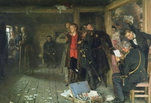 The Arrest of the Propagandist, 1880-89, courtesy www.ilyarepin.org