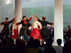 This folk dance presentation -- in a palace, of course --was a lot of fun