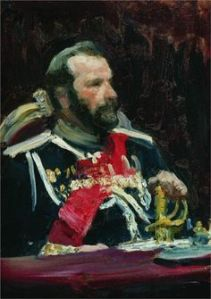 Portrait by Repin of War Minister Aleksei Nikolayevich Kuropatkin