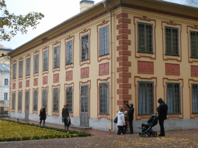 Peter's Summer Palace at the edge of the Summer Garden. He loved this simple palace, the only original building standing today, now a museum