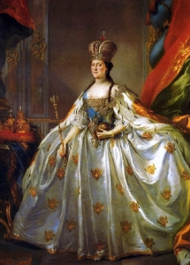 Catherine the Great in her coronation dress