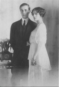 Felix and Irina, engaged in 1913