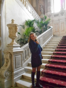Our guide, Irina, at Yusupov Palace