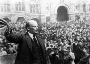 Lenin arrives to foment revolution in St. Petersburg Germany