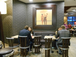 McDonald's, hangout for teens and twenty-somethings