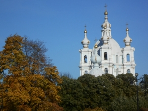 Smolny Cathedral by day