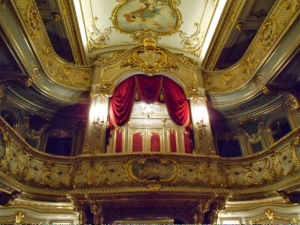 Ornate private theatre where Glink and Pavlova and other greats have performed