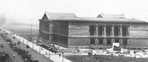 Art Institute of Chicago, 1914, one of two buildings remaining from the fair. Note the barren landscape