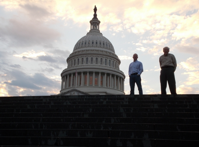 Steven, our pathfinder and Bob my partner-for-life on the steps of the Capitol Building