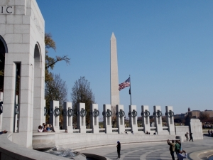 A portion of the World War II Memorial