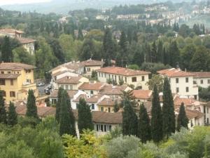Ancient villas and cypress